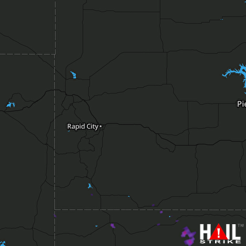 Hail Map Chadron, NE 08-24-2017