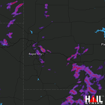 Hail Map Black Hawk, SD 06-09-2018