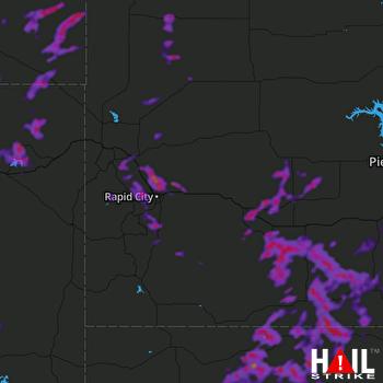 Hail Map Black Hawk, SD 06-09-2018