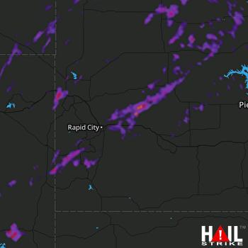 Hail Map Box Elder, SD 07-04-2018