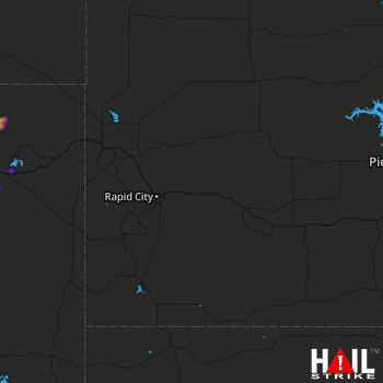 Hail Map RAPID CITY 07-16-2018