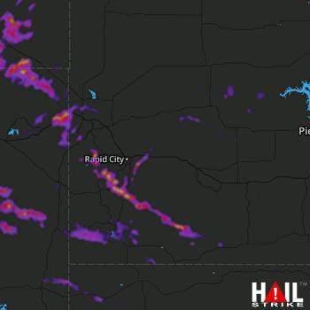 Hail Map Hill City, SD 07-18-2018