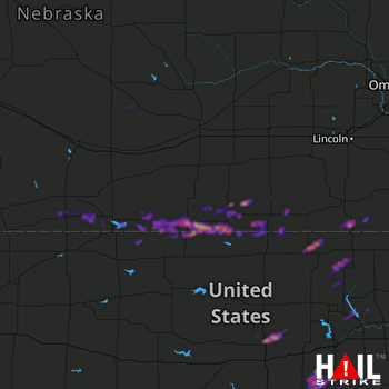 Hail Map Herington, KS 03-28-2019