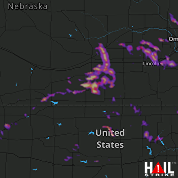 Hail Map Lincoln, NE 05-06-2019
