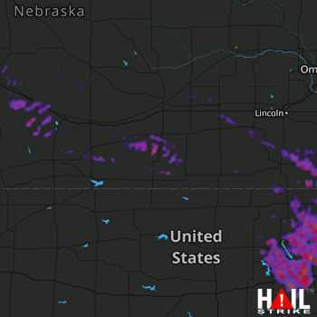Hail Map Manhattan, KS 08-16-2019