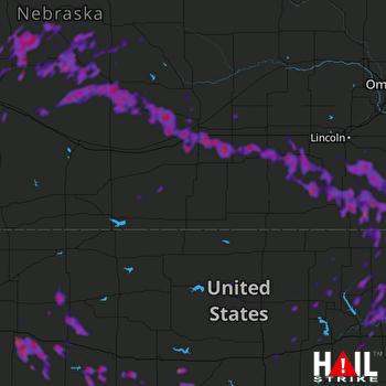 Hail Map Beatrice, NE 08-21-2019