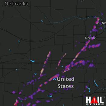 Hail Map Lincoln, NE 09-22-2019