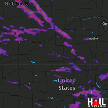 Hail Map Junction City, KS 06-04-2020