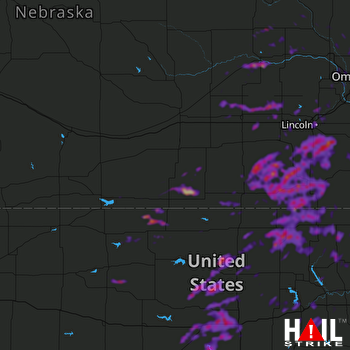 Hail Map Columbus, NE 06-19-2020