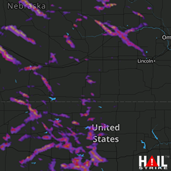Hail Map North Platte, NE 06-21-2020