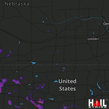Hail Map Hays, KS 07-03-2020