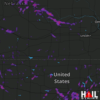 Hail Map Salina, KS 07-21-2020