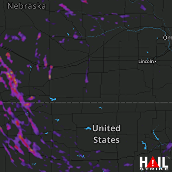 Hail Map North Platte, NE 07-30-2020