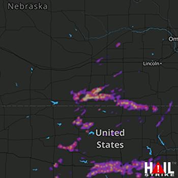 Hail Map Salina, KS 05-09-2021