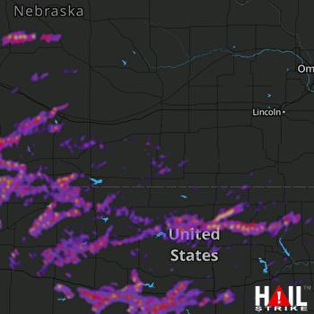 Hail Map Salina, KS 05-27-2021
