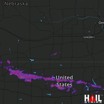 Hail Map Manhattan, KS 08-10-2021
