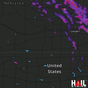 Hail Map Norfolk, NE 08-31-2021