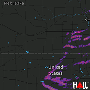 Hail Map Lincoln, NE 04-20-2017