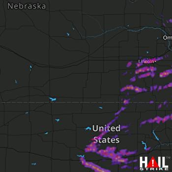 Hail Map Lincoln, NE 04-20-2017