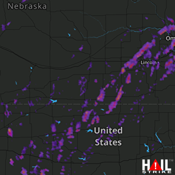Hail Map Omaha, NE 05-17-2017