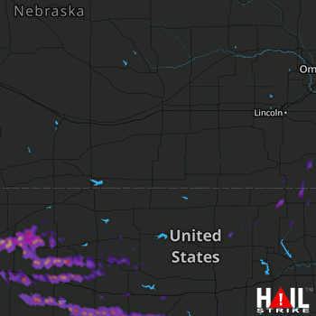 Hail Map Wakeeney, KS 05-27-2017