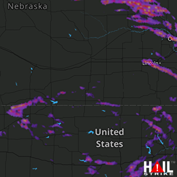 Hail Map Bellevue, NE 06-30-2017