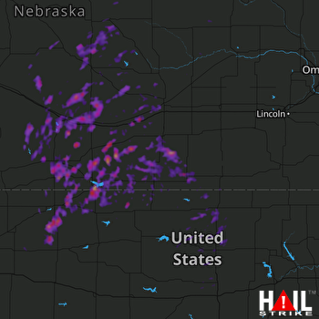 Hail Map Lexington, NE 07-18-2017