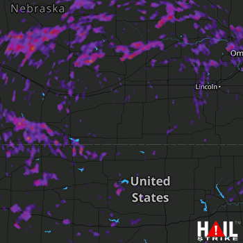 Hail Map Norfolk, NE 08-16-2017