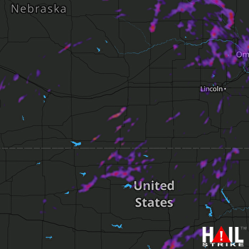 Hail Map Omaha, NE 06-19-2018