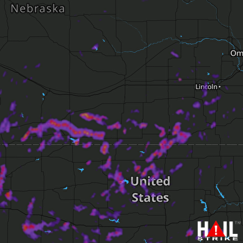 Hail Map Hays, KS 06-20-2018