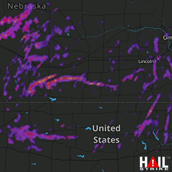 Hail Map Lincoln, NE 07-01-2018