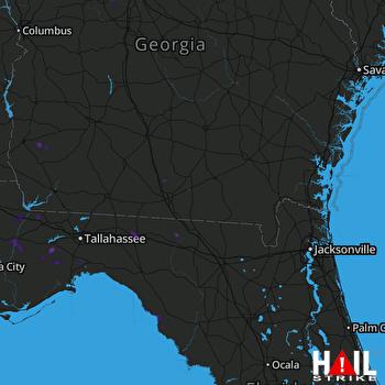 Hail Map Hahira, GA 09-01-2018
