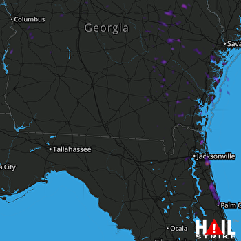 Hail Map Saint Augustine, FL 06-02-2018