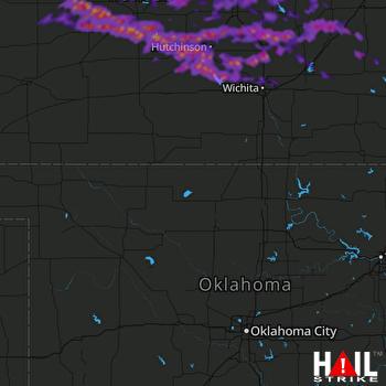 Hail Map Newton, KS 04-29-2019
