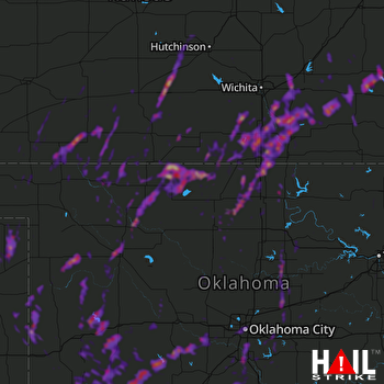 Hail Map Oklahoma City, OK 05-08-2019