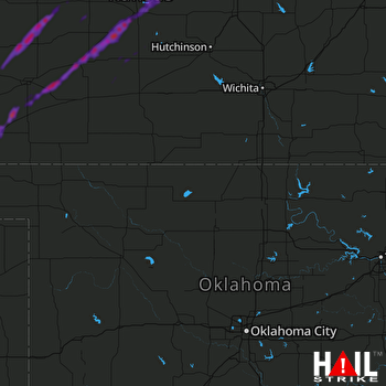 Hail Map Great Bend, KS 05-18-2019