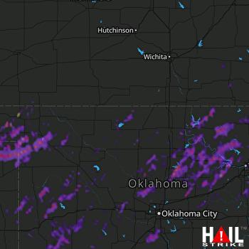 Hail Map Broken Arrow, OK 05-21-2019