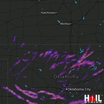 Hail Map Oklahoma City, OK 04-22-2020