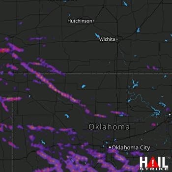 Hail Map Oklahoma City, OK 05-08-2020