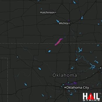 Hail Map VANCE AFB 08-07-2020