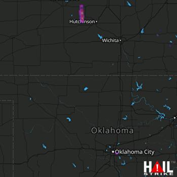 Hail Map Oklahoma City, OK 08-17-2020