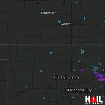 Hail Map Glenpool, OK 08-31-2020