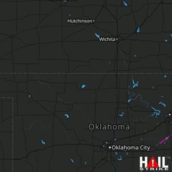 Hail Map Beggs, OK 11-14-2020