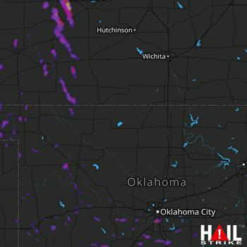 Hail Map Lexington, OK 07-19-2021