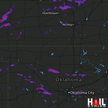 Hail Map Stillwater, OK 08-08-2021