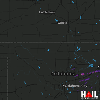Hail Map Broken Arrow, OK 04-21-2017