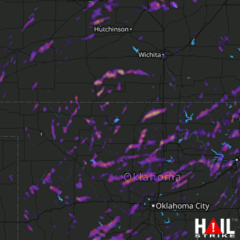 Hail Map Tulsa, OK 05-11-2017