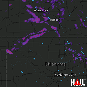 Hail Map Bixby, OK 06-16-2017