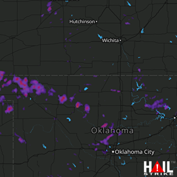 Hail Map Owasso, OK 07-04-2017
