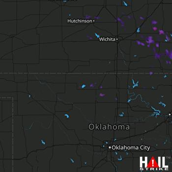 Hail Map Eureka, KS 07-23-2017